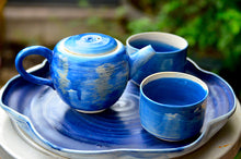 New! Oryoqi®️Handmade Pottery Blue Christmas collection
