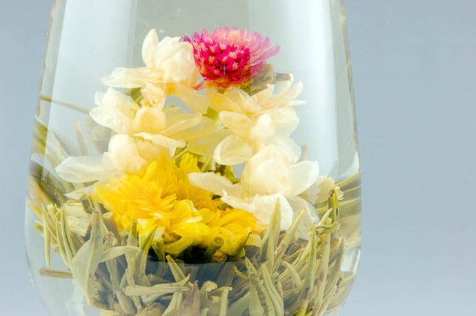Double Dragon Pearl Blooming Tea