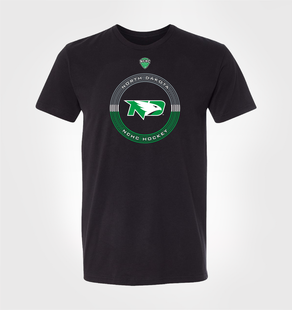UND Fighting Hawks Emblem Tee [Black]