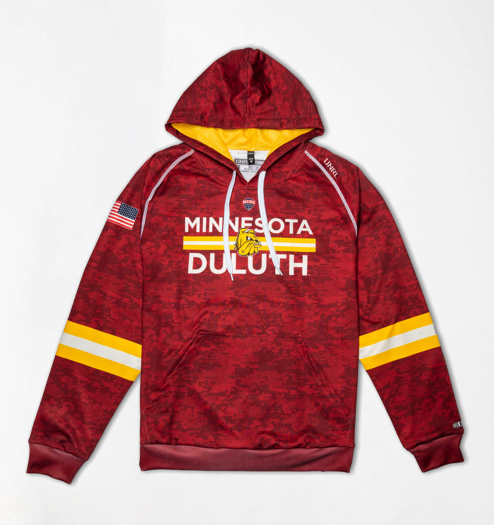 UMD Bulldogs SilkSeries Hoodie [Digital Maroon]