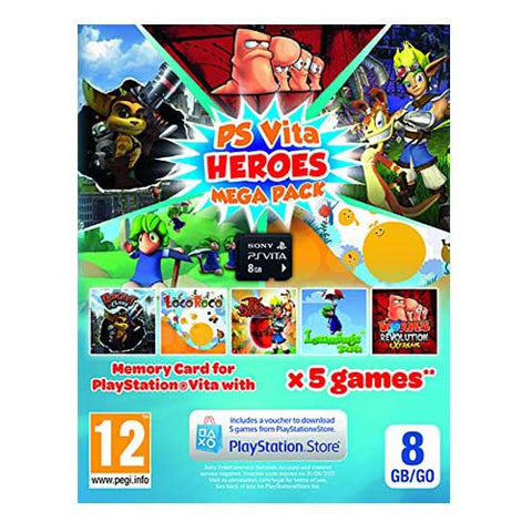 8GB PS VITA MEMORY CARD & HEREOS MEGA PACK VOUCHER