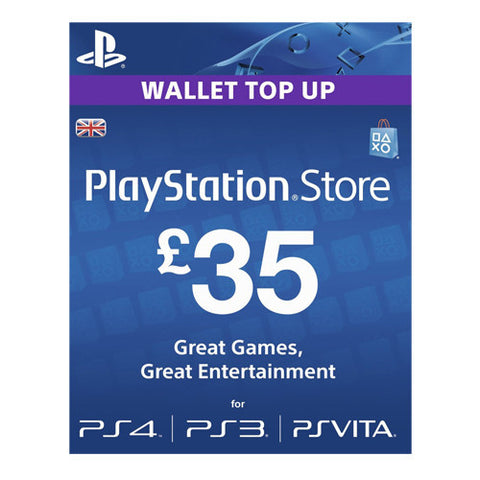 PSN LIVE CARD £35 PS3 PS4 VITA