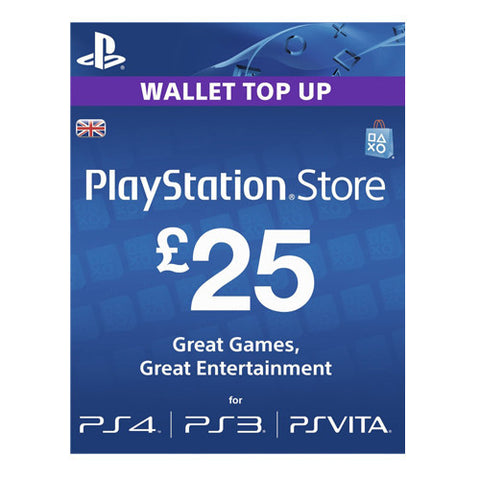 PSN LIVE CARD £25 PS4 PS3 VITA