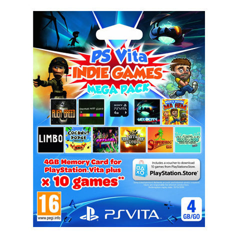 4GB PS VITA MEMORY CARD & INDIE MEGA PACK