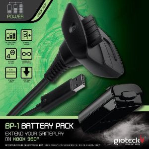 GIOTECK BP1 PLAY & CHARGE KIT XBOX 360