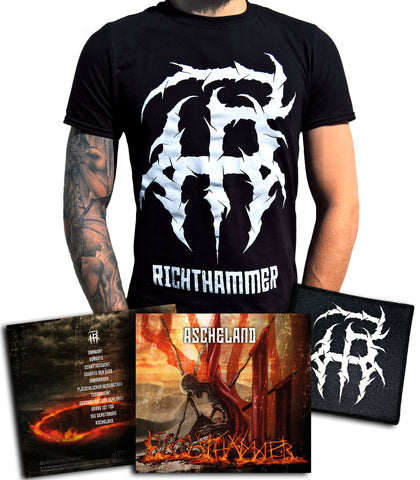 Richthammer - Ascheland CD-Bundle (CD+Shirt+Patch)