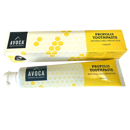 Propolis Toothpaste - 100g. Avoca.Avoca's toothpastes a great staple to add to your daily hygiene routine as it is commonly used to maintain fresh breath and prevent the development of viral cold sores. It tastes great, with no artificial colours or flavours.