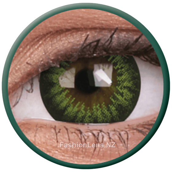 Big Eyes Party Green ColourVue Contact Lenses. Fashion Lens NZ.