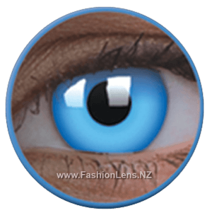 Glow UV Glow Blue ColourVue Contact Lenses. Fashion Lens NZ.