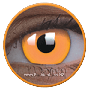 Glow UV Glow Orange ColourVue Contact Lenses. Fashion Lens NZ.