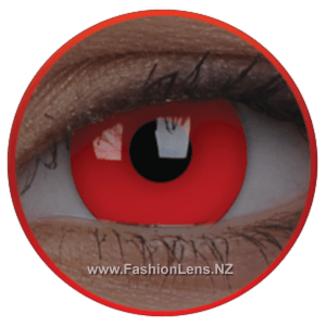 Glow UV Glow Red ColourVue Contact Lenses. Fashion Lens NZ.