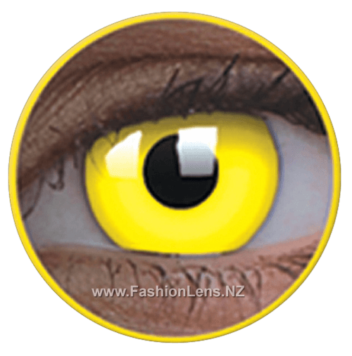 Glow UV Glow Yellow ColourVue Contact Lenses. Fashion Lens NZ.