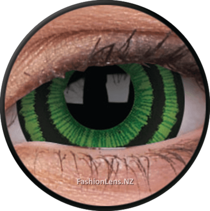 Green Goblin Mini Sclera ColourVue Contact Lenses