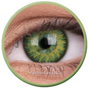 Glamour Green Coloured ColourVue Contact Lenses