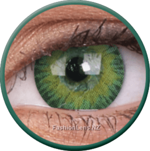 3 Tones Green ColourVue Contact Lenses. Fashion Lens NZ.