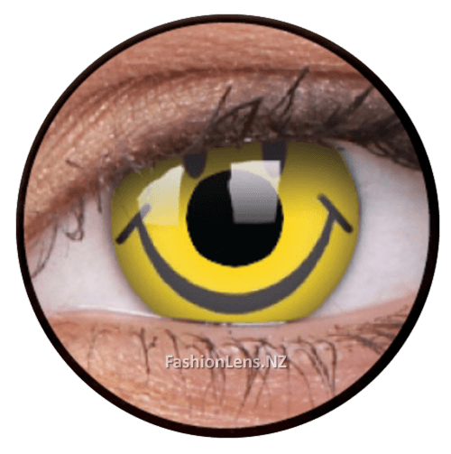 Crazy smiley ColourVue Contact Lenses. Fashion Lens NZ.