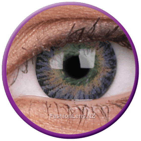 3 Tones Violet ColourVue Contact Lenses. Fashion Lens NZ.