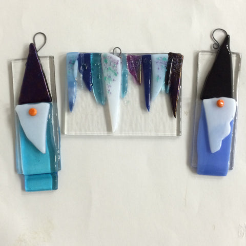 Fused Glass: Ornaments - 2017