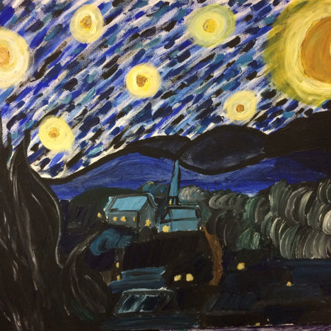 Family Pizza & Paint Night - Starry Night