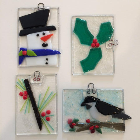 Fused Glass Ornaments