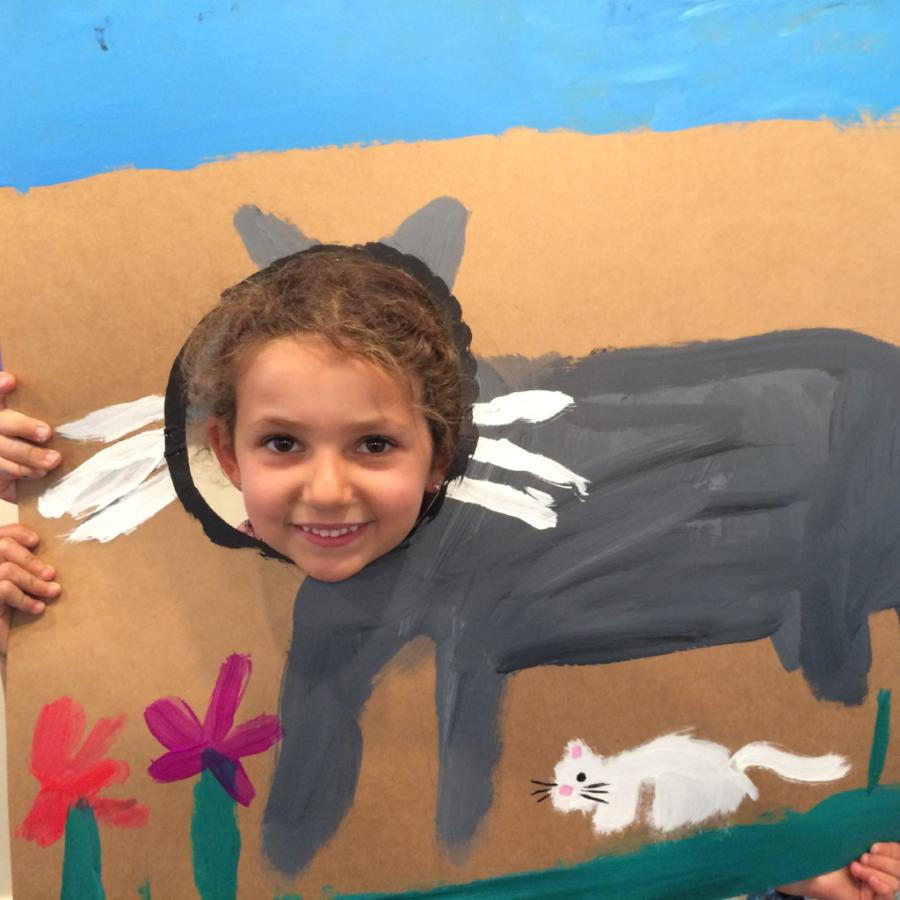 Kids Art -Painting Cat