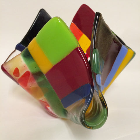 Fused Glass:  Vases