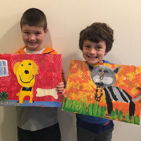 Kids Art Class-mixed media