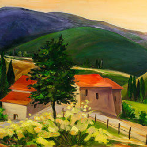 Davis Studio Paint & Sip Night - Touring Tuscany