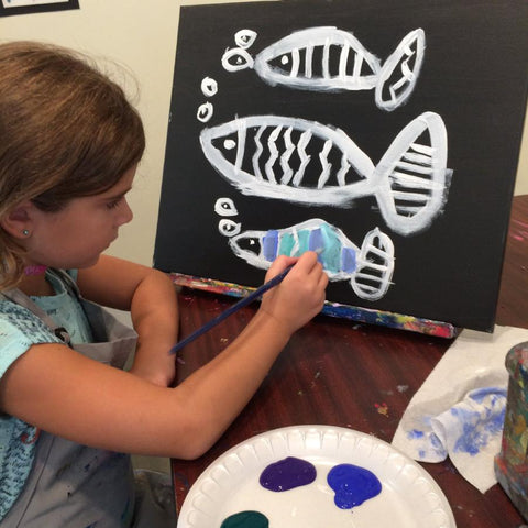 Family Paint Night - Pop of Color - August