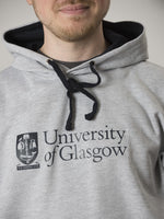 Classic Grey and Navy Hoodie - detail