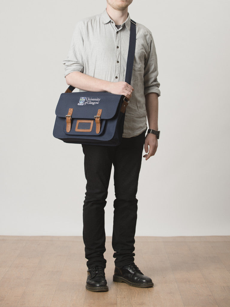 University Embroidered Satchel