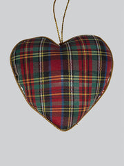 Tartan Thistle Heart Decoration