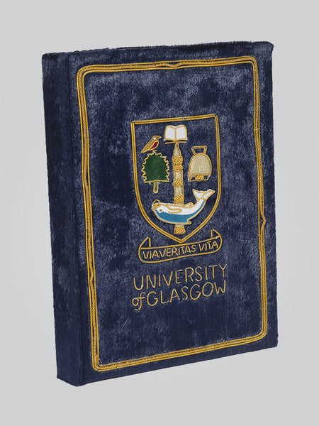 University Crested Fabric Notebook