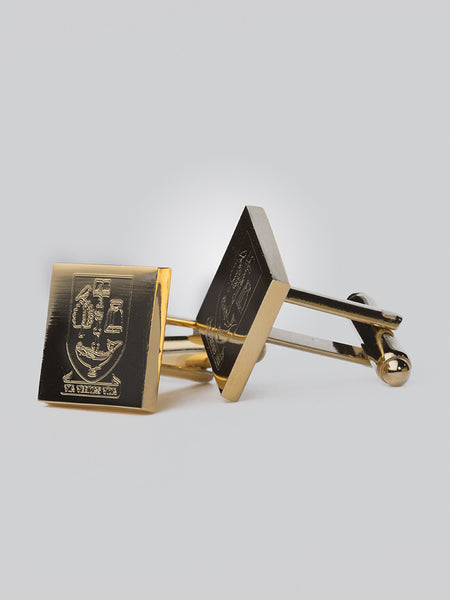 Gold Plated University Crest Cufflinks