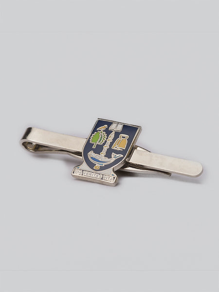 Enamel University Crest Tie Slide