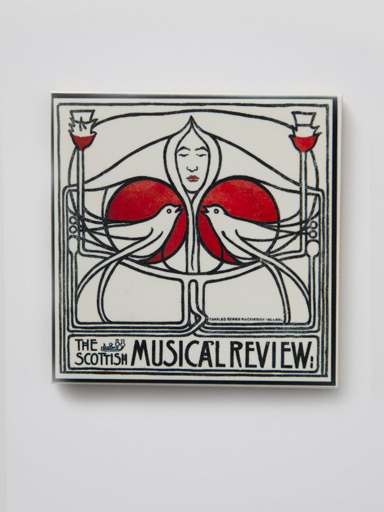 Musical Review Poster Tile Coaster