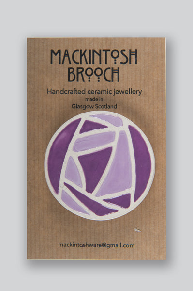 Mackintosh Large Ceramic Brooch