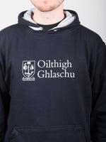 Classic Navy and Grey Hoodie with Gaelic Language Logo