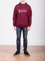 Classic Burgundy and Grey Hoodie