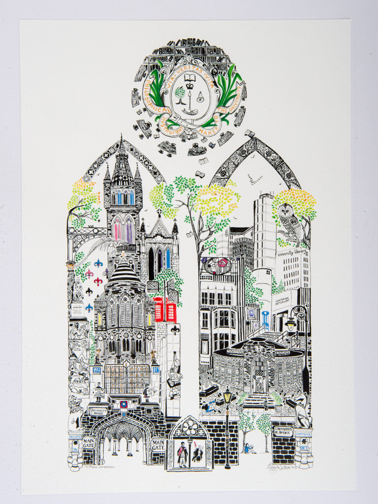 University Print by Libby Walker