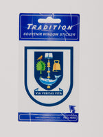 University Crest Window Sticker