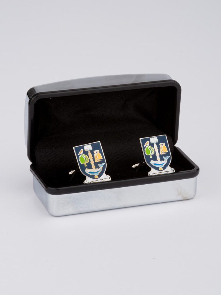 Enamel University Crest Cufflinks