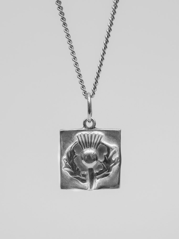 University Hallmarked Silver Thistle Pendant