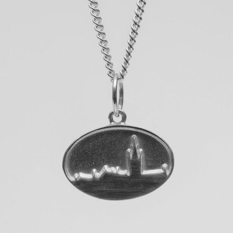 University Hallmarked Silver Skyline Pendant
