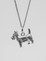 University Hallmarked Silver Scottie Pendant