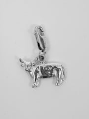 University Hallmarked Highland Cow Charm