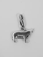 University Hallmarked Highland Cow Charm - reverse