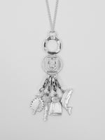 University Hallmarked Long Silver Charm Pendant (charms sold separately)