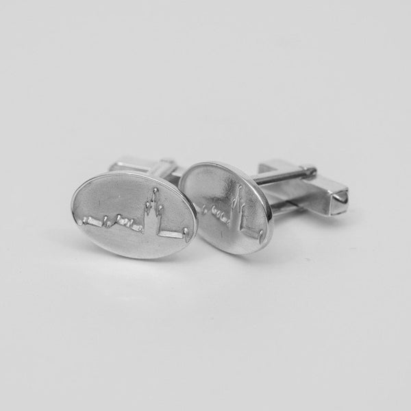 University Hallmarked Silver Skyline Cufflinks