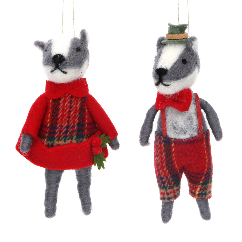 Wool Mix Mr and Mrs Badger